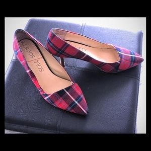 Some Society Plaid Heels